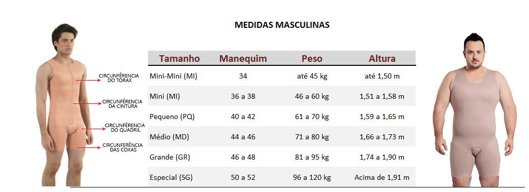 3a88d197cb Exemplos de como achar o tamanho correto na tabela de medidas para um  produto masculino